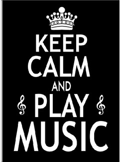 Little Snoring Gifts: 7x5 Greetings Card - Keep Calm And Play Music  |