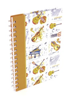 Little Snoring Gifts: A5 Spiral Bound Lined Pages Notebook - Instrument Design  |