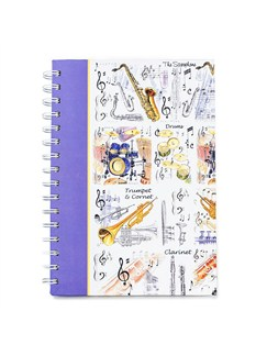 Little Snoring Gifts: A5 Hardback Spiral Bound Notebook - Musical Instruments  |