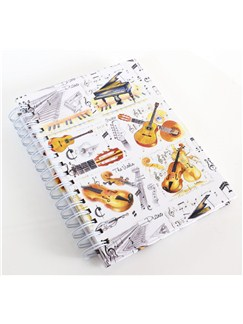 Little Snoring Gifts: A6 Spiral Bound Lined Pages Notebook - Instrument Design  |