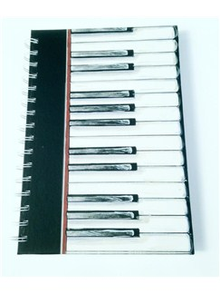 Little Snoring Gifts: A6 Hardback Spiral Bound Notebook – Piano Keys  |