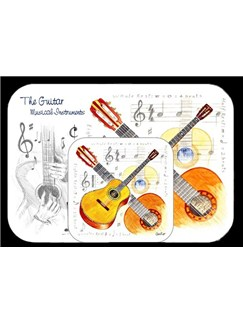Little Snoring Gifts: Mousemat And Coaster Set - Guitar  |