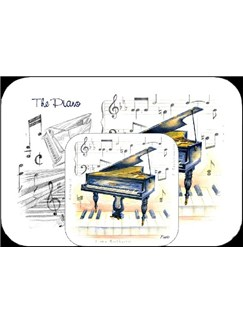 Little Snoring Gifts: Mousemat And Coaster Set - Piano  |