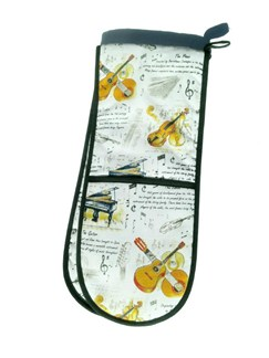 Little Snoring Gifts: Double Oven Gloves - Classical Instruments  |