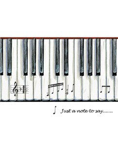 Little Snoring Gifts: 7x5 Greetings Card - Piano Keys Design  |