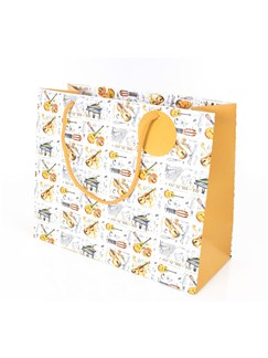 Little Snoring Gifts: Gift Bag - Large Mixed Music Design  |