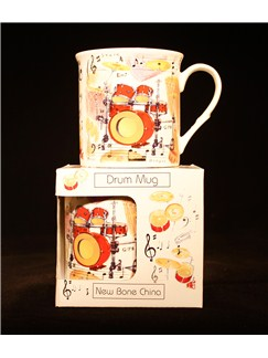 Little Snoring Gifts: Fine China Mug - Drums Design  |