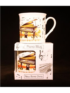 Little Snoring Gifts: Fine China Mug - Piano Design  |