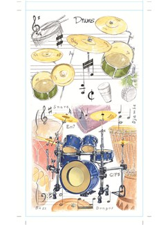 Little Snoring Pocket Notepad: Drums  |