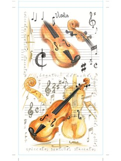 Little Snoring Pocket Notepad: Violin  |