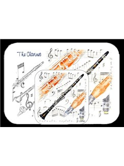 Little Snoring Gifts: Placemat And Coaster Set - Clarinet  |