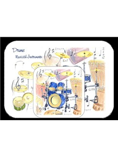 Little Snoring Gifts: Placemat And Coaster Set - Drums  |