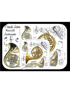 Little Snoring Gifts: Placemat And Coaster Set - French Horn  |
