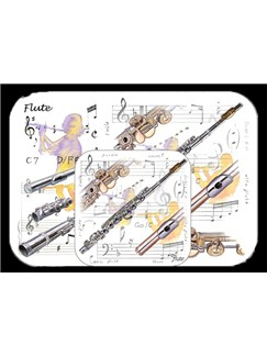 Little Snoring Gifts: Placemat And Coaster Set - Flute  |
