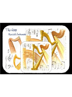 Little Snoring Gifts: Placemat And Coaster Set - Harp  |
