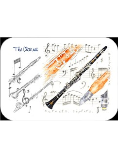 Little Snoring Gifts: Clarinet Placemat - Pack Of 4  |