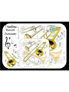 Little Snoring Gifts: Placemat And Coaster Set - Trombone  |