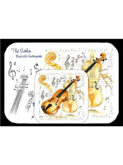 Little Snoring Gifts: Placemat And Coaster Set - Violin  |