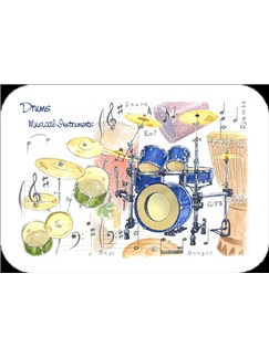 Little Snoring Gifts: Drum Placemat - Pack Of 4  |