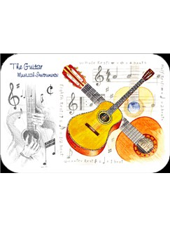 Little Snoring Gifts: Guitar Placemat - Pack Of 4  |
