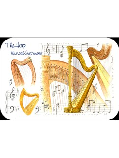 Little Snoring Gifts: Harp Placemat - Pack Of 4  |