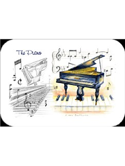 Little Snoring Gifts: Piano Placemat - Pack Of 4  |