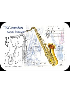 Little Snoring Gifts: Saxophone Placemat - Pack Of 4  |