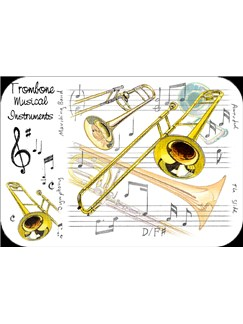 Little Snoring Gifts: Trombone Placemat - Pack Of 4  |