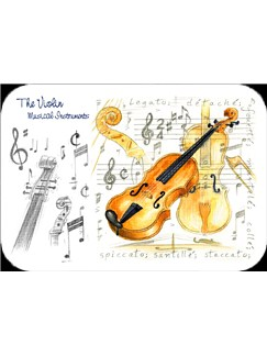 Little Snoring Gifts: Violin Placemat - Pack Of 4  |