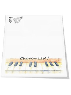 Little Snoring Gifts: Slant Pad - Chopin List  |