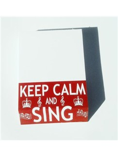 Little Snoring Gifts: Slant Pad - Keep Calm And Sing  |