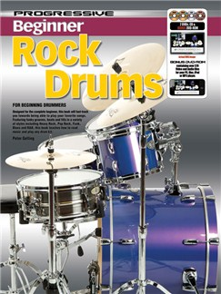 Progressive: Beginner Rock Drums (Book/CD/2DVDs/DVD-ROM) Books, CD-Roms / DVD-Roms, CDs and DVDs / Videos | Drums
