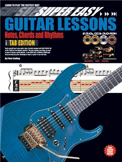 Super Easy Guitar Lessons: Notes, Chords And Rhythms - Tablature Edition (Book/CD/2DVDs/DVD-ROM) Books, CD-Roms / DVD-Roms, CDs and DVDs / Videos | Guitar, Guitar Tab