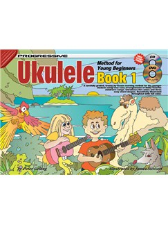 Progressive Ukulele Method For Young Beginners: Book 1 Books, CDs and DVDs / Videos | Ukulele