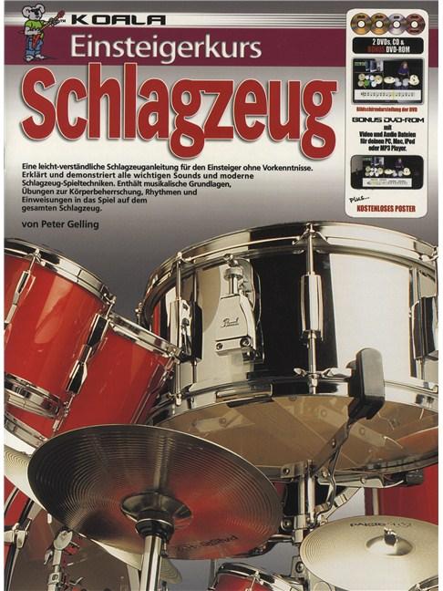 Einsteigerkurs Schlagzeug Bookcd2xdvdposter Drums Books