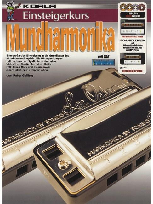 Einsteigerkurs Mundharmonika Bookcd2xdvdposter Harmonica