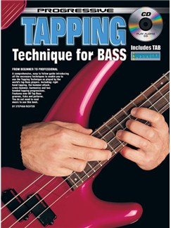 Progressive: Tapping Technique For Bass Guitar (Book/CD) Books and CDs | Bass Guitar