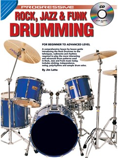Progressive: Rock, Jazz And Funk Drumming (Book/CD) Books and CDs | Drums