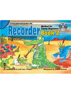 Progressive: Recorder Method For Young Beginners - Book 2 (Book/CD) Books and CDs | Recorder