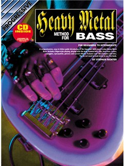 Progressive: Heavy Metal Bass Method (Book/CD) Books and CDs | Bass Guitar