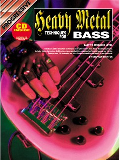 Progressive: Heavy Metal Techniques For Bass (Book/CD) Books and CDs | Bass Guitar