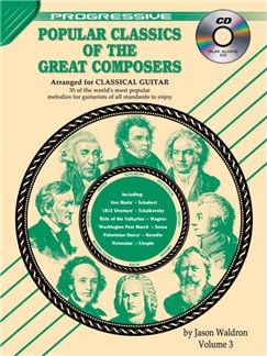 Progressive: Popular Classics Of The Great Composers - Volume 3 (Book/CD) Books and CDs | Classical Guitar