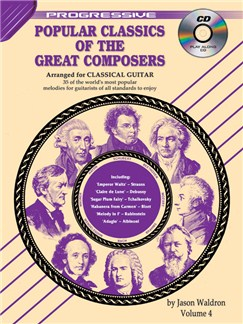 Progressive: Popular Classics Of The Great Composers - Volume 4 (Book/CD) Books and CDs | Classical Guitar