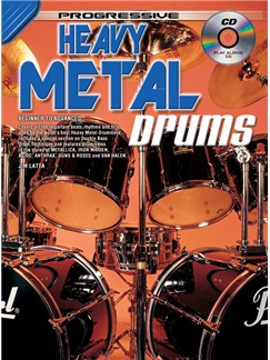 Progressive: Heavy Metal Drumming (Book/CD) Books and CDs | Drums
