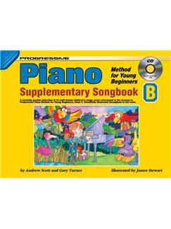 Progressive: Piano Method For Young Beginners - Supplementary Songbook B (Book/CD) Books and CDs | Piano