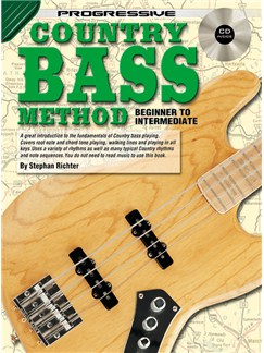 Progressive Country Bass Method Books and CDs | Bass Guitar