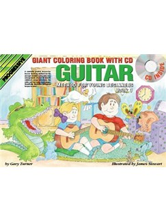 Progressive Guitar Method For Young Beginners: Book 1 - Giant Colouring Book (Book/CD/DVD) Books, CDs and DVDs / Videos | Guitar