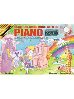 Progressive Piano Method For Young Beginners: Book 1 - Giant Colouring Book (Book/CD/DVD) Books, CDs and DVDs / Videos | Piano