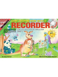 Progressive Recorder Method For Young Beginners: Book 1 - Giant Colouring Book (Book/CD/DVD) Books, CDs and DVDs / Videos | Recorder