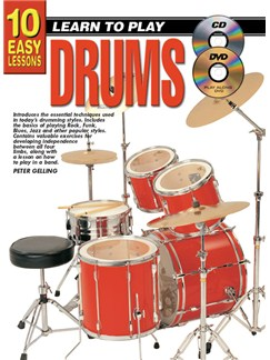 10 Easy Lessons: Learn To Play Drums Books, CDs and DVDs / Videos | Drums